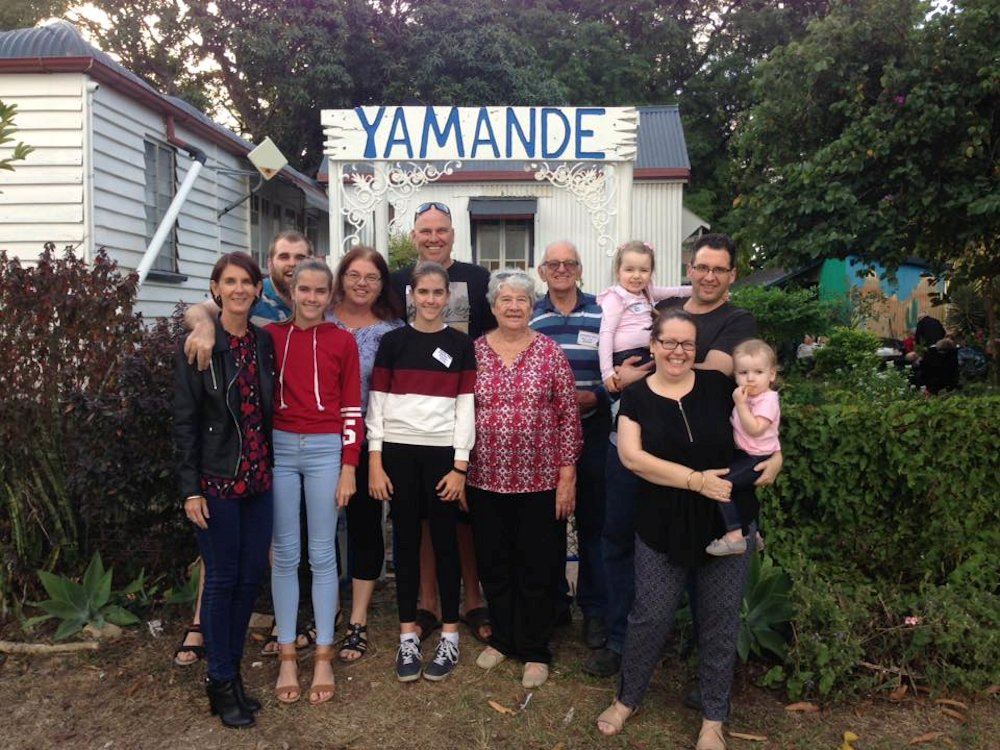 Winston Sleaford and family members at Yamande.