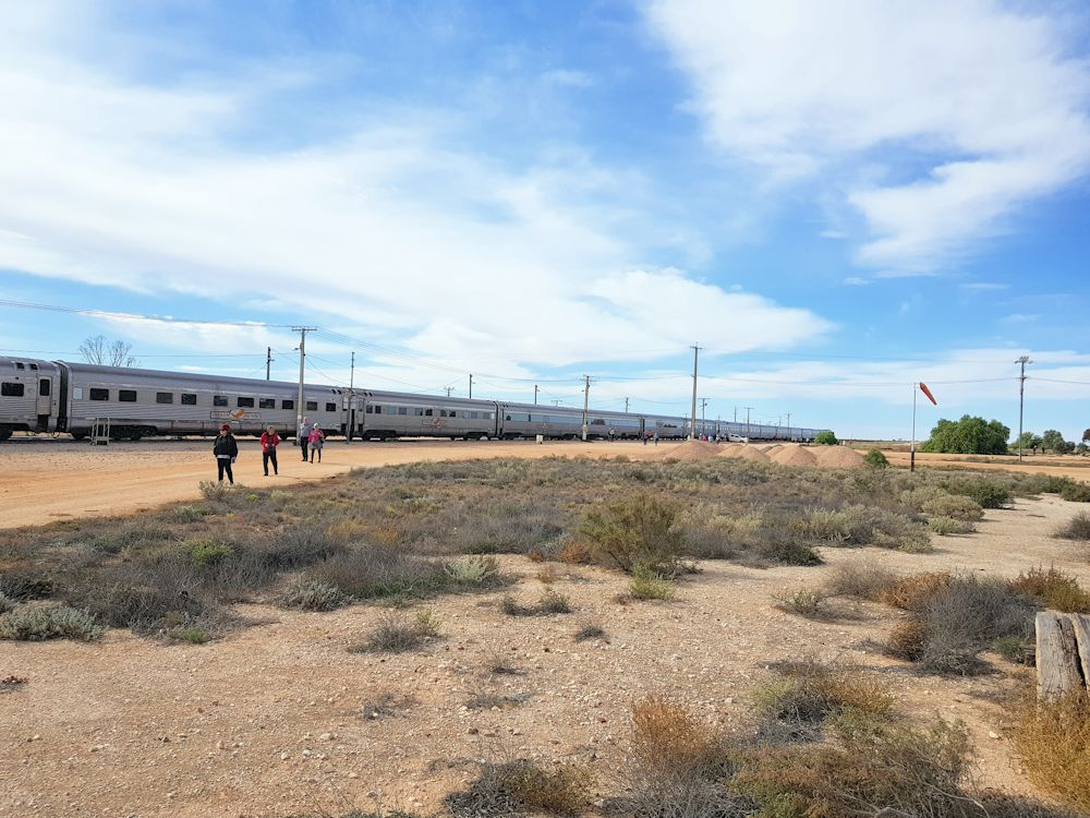 Indian Pacific train At Cook