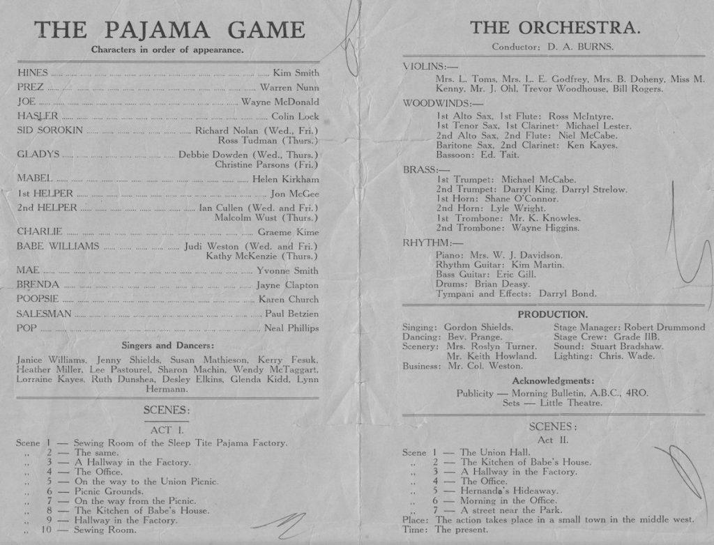 Pajama Game program