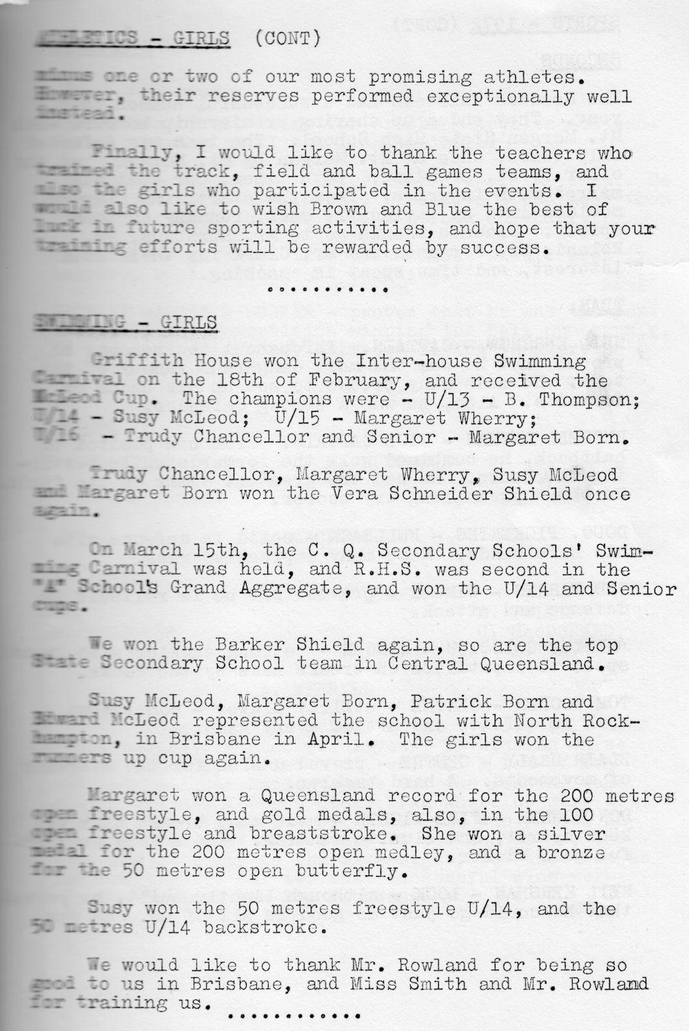 1972 Rockhampton State High School Magazine p31