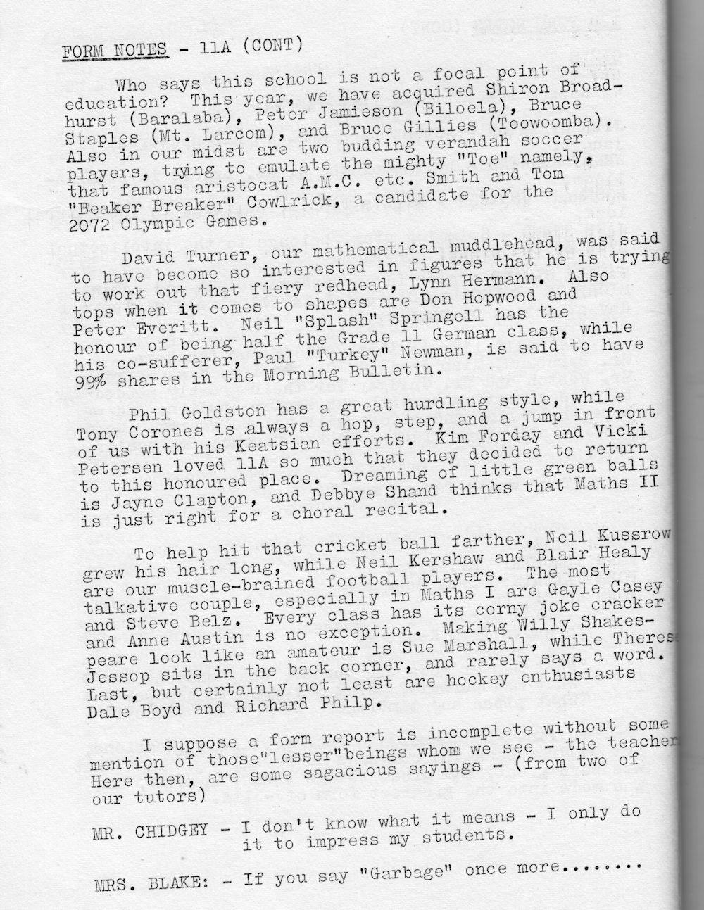 1972 Rockhampton State High School Magazine p48