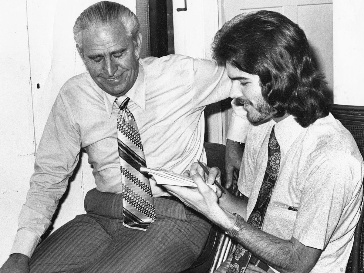 Warren Nunn interviewing Percy Tucker 1973