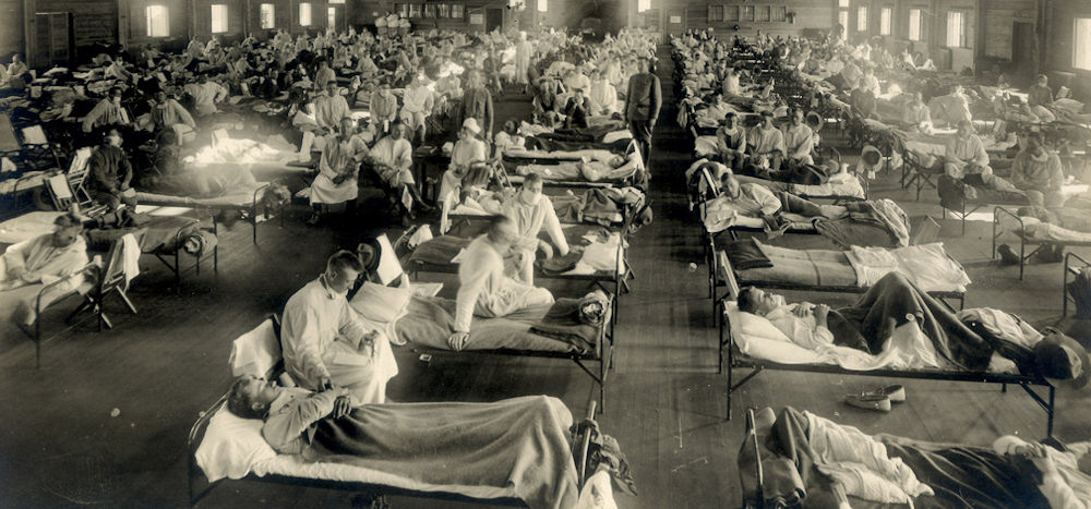 Soldiers with the Spanish flu