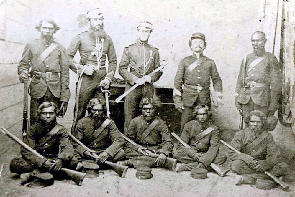 Rockhampton police officers in 1864