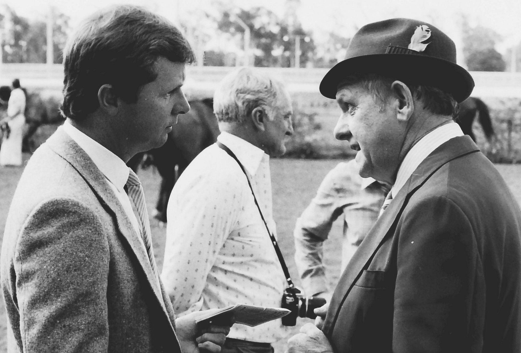 Alan Welburn with Clem Jackson in 1984 at Callaghan Park.