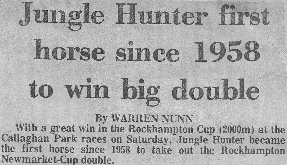Jungle Hunter Cup win