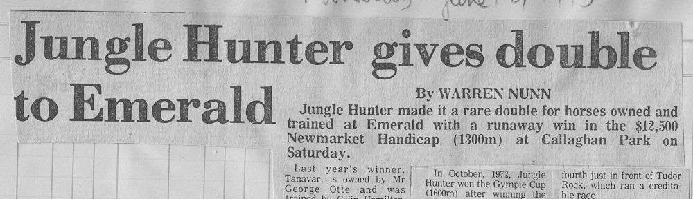 Jungle Hunter 1975 Newmarket